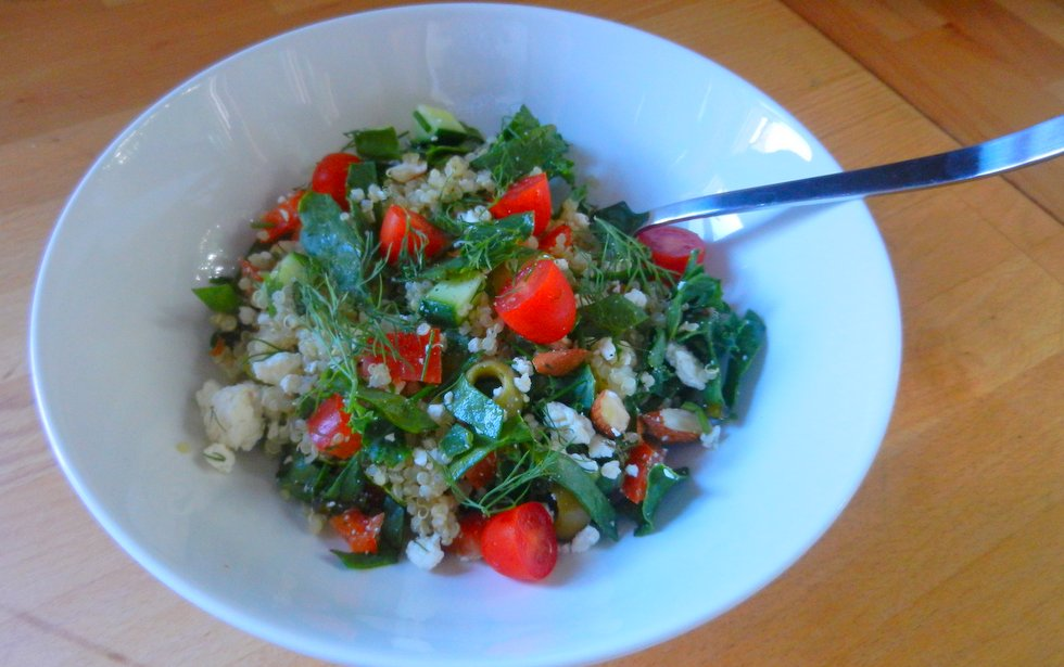 photo of quinoa salad